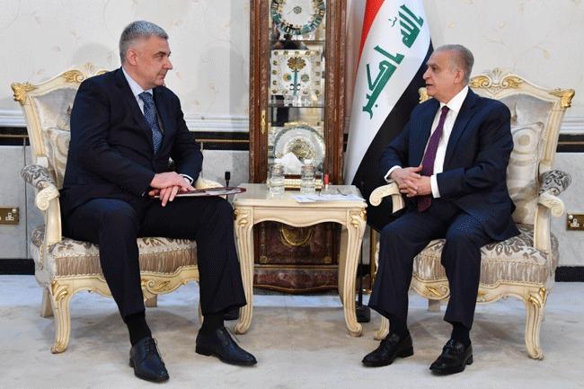 Foreign Minister meets Russian Ambassador to Baghdad Maksim Maksimov 2cb5c0b3-78e6-4888-b995-0c04eb92c124