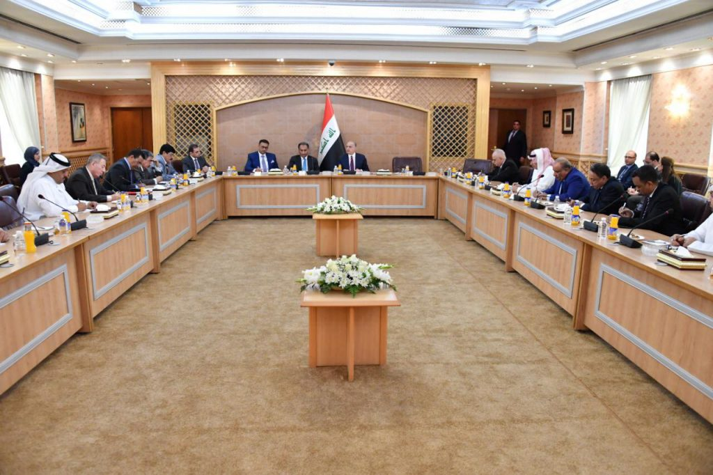Foreign Minister meets Arab ambassadors accredited to Baghdad 58650c4b-365c-478d-8c2f-8818a50f56d0-1024x682