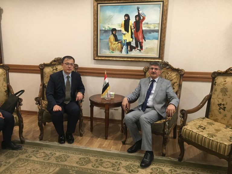 Head of Asia and Australia department meets with Chinese ambassador in Baghdad IMG_5980-768x576