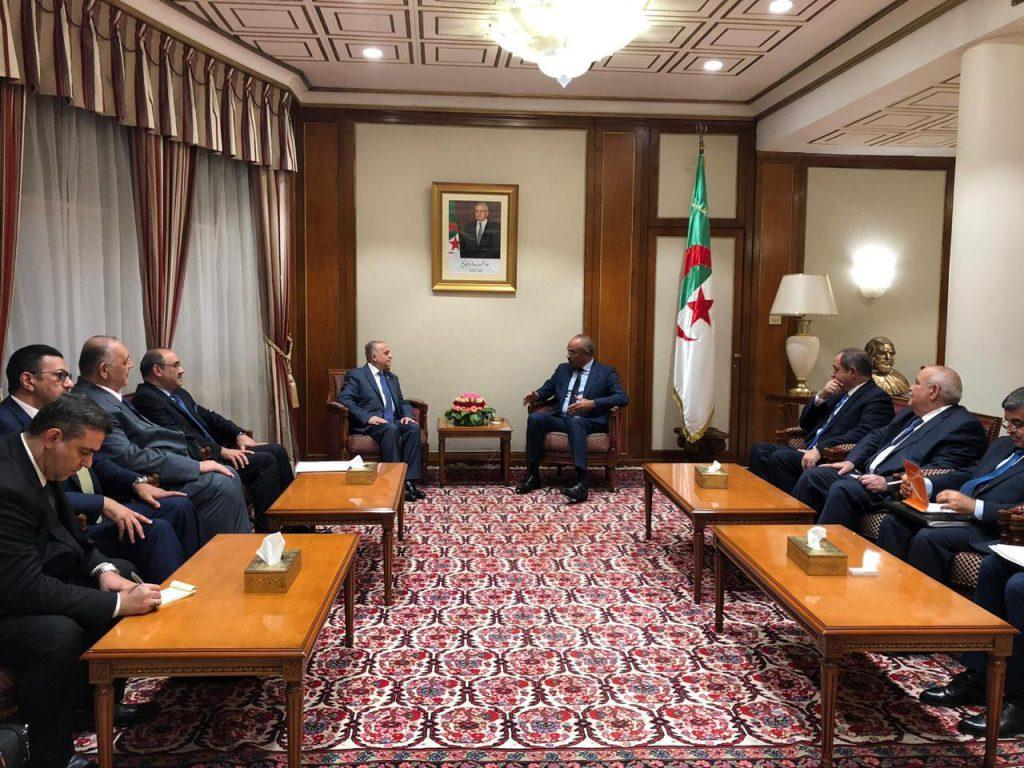 Foreign Minister meets with his Algerian counterpart Sabri Boukadoum 38ad4799-fd98-4ae8-ae36-3953a1a6ff90-1024x768