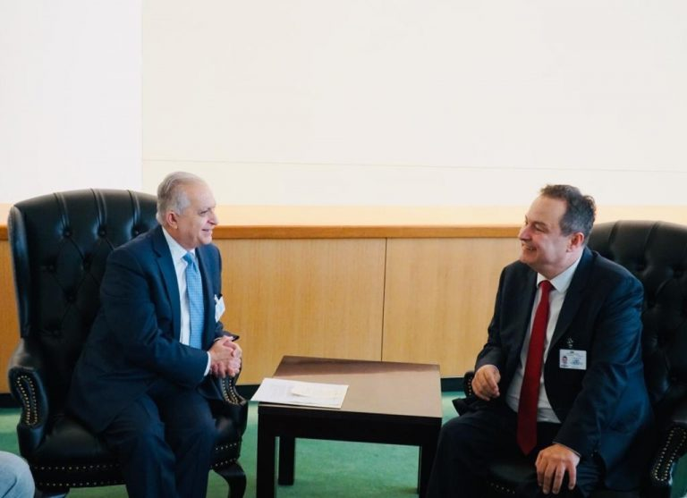 Foreign Minister meets Lord Ahmed of Wimbledon, Secretary of State for Commonwealth Affairs and the United Nations at the Foreign and Commonwealth Office 454545787-768x557