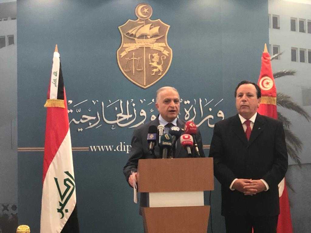 Foreign Minister Mohammed Ali al-Hakim heads the Iraqi side in the meetings of the Iraqi-Tunisian Joint Committee 4ec1241f-adc1-494d-8caa-20f9aa53ceba