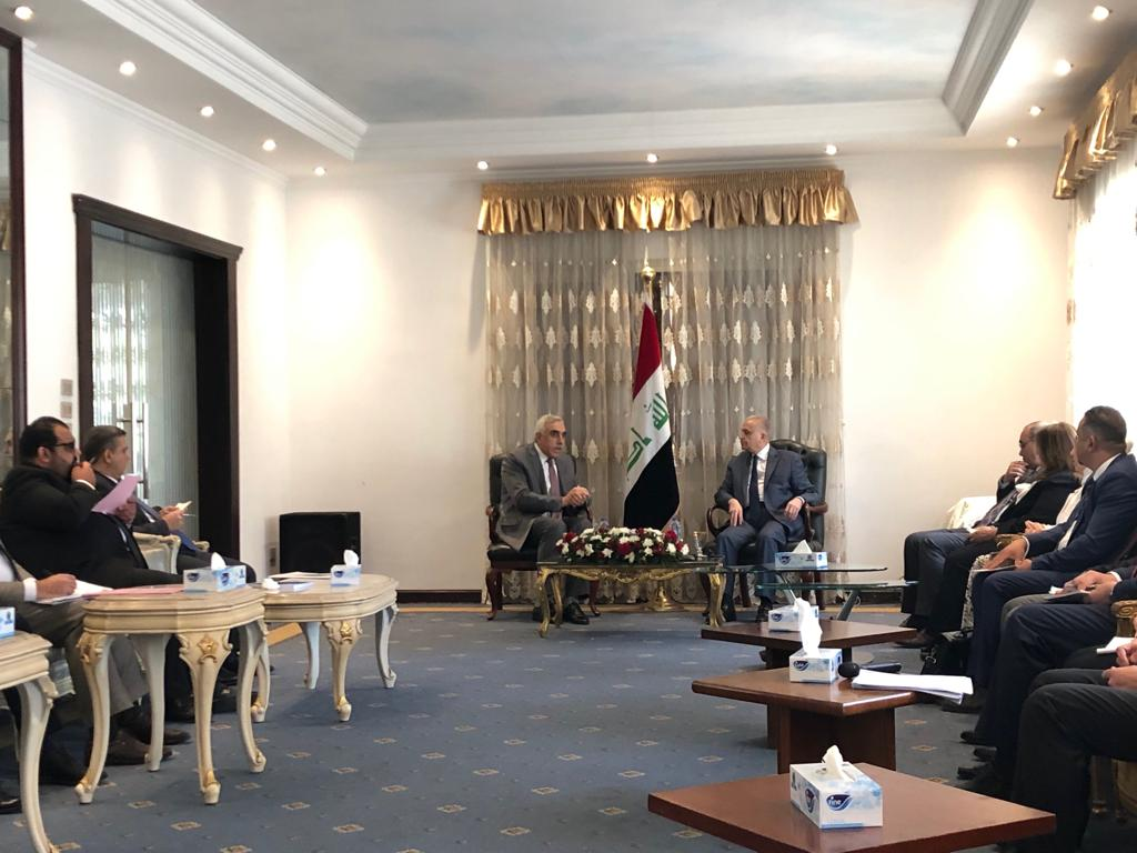Foreign Minister visits the Embassy of the Republic of Iraq in Cairo BY MEDIAOFFICE · 09/09/2019 9e56a99c-d6e8-461d-bb99-c415a5f34175