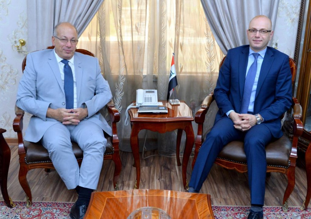 Deputy Head of Protocol Department meets the Ambassador of the Republic of Greece to the Republic of Iraq Cd4d407b-3d21-4b32-acc8-1c50e02f2192-1024x724