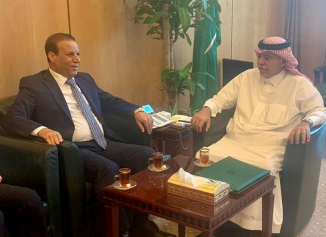 Iraqi Ambassador in Riyadh Meets Saudi Trade and Investment Minister 33333
