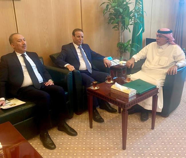 Iraqi Ambassador in Riyadh Meets Saudi Trade and Investment Minister 4444