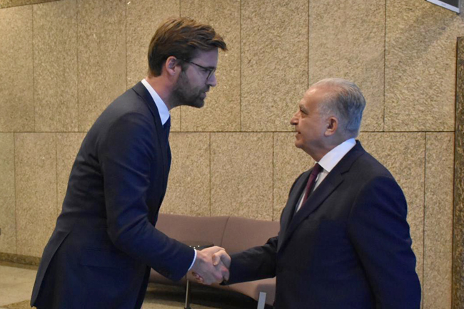 Foreign Minister meets his Dutch counterpart Steve Block BRKY0035