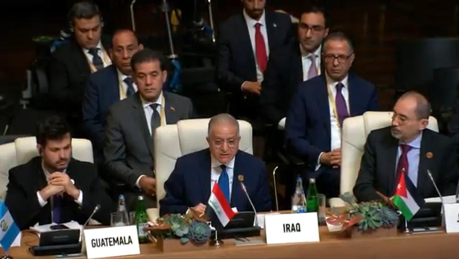 Foreign Ministers of the Hashemite Kingdom of Jordan, Egypt, and Iraq today held a trilateral meeting on the sidelines of the 18th Summit of the Non-Aligned Movement in Baku, Azerbaijan. PWTF6374