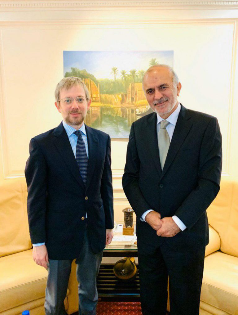 Ambassador of the Republic of Iraq in Brussels receives the Chairman of the Group of Experts on Middle East issues in the Council of the European Union Photo_2019-10-17_14-44-15-775x1024-768x1015