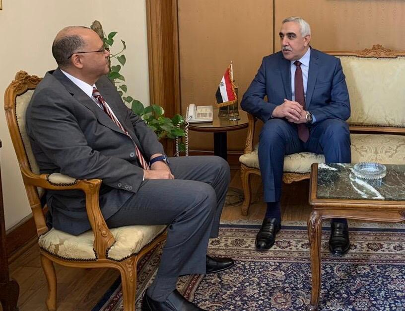 The Ambassador of the Republic of Iraq to Cairo meets with the Assistant Foreign Minister for Arab Affairs 037b67f0-7580-4529-b50f-1a15b3723d68