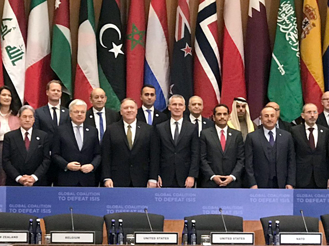 Foreign Minister addresses Iraq at the mini-ministerial meeting of the international coalition to defeat ISIS ATSU3276