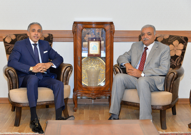 The Head of the Arab Department meets the Ambassador of the Republic of Egypt to Baghdad DSC_4175