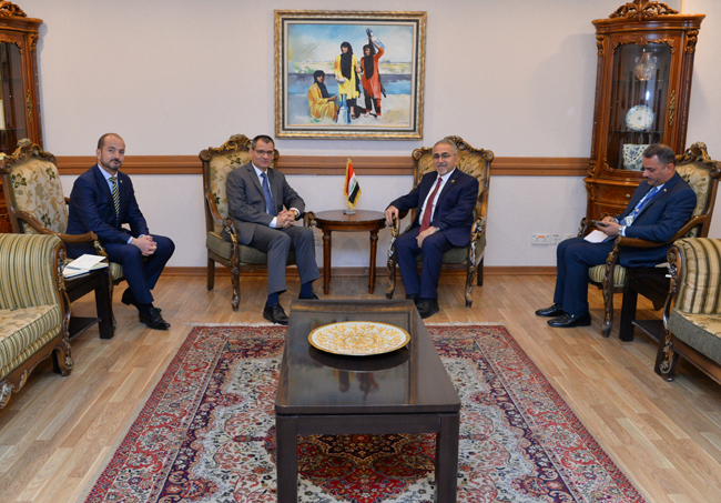 Head of the European Department receives the head of the EU mission in Baghdad and his deputy DSC_4362