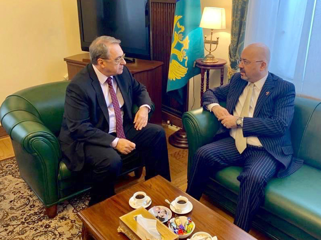 Iraqi Ambassador to Moscow Meets with Belarusian Foreign Minister EIS0X6lWsAA0MXm
