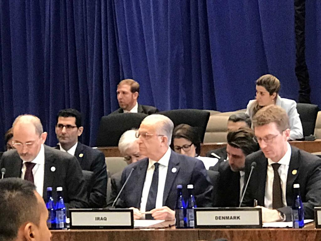 Foreign Minister addresses Iraq at the mini-ministerial meeting of the international coalition to defeat ISIS GHIZ5223
