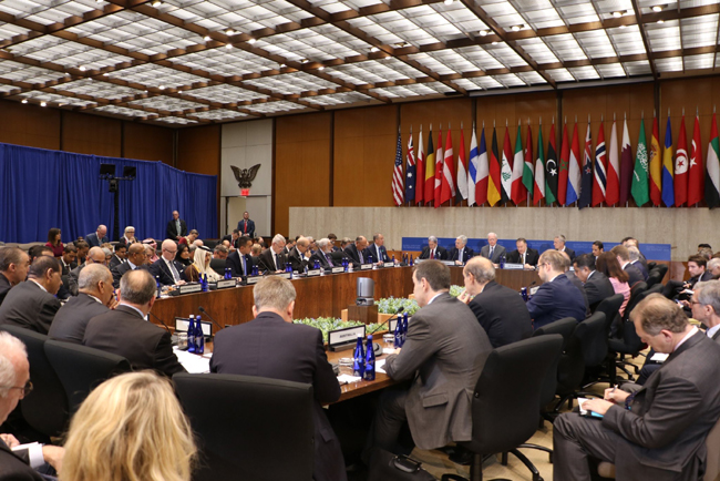 Foreign Minister addresses Iraq at the mini-ministerial meeting of the international coalition to defeat ISIS IMG_0662