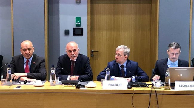 The Ambassador of the Republic of Iraq to Brussels meets the expert group on Middle East and Gulf issues at the Council of the European Union Photo_2019-11-19_14-33-41