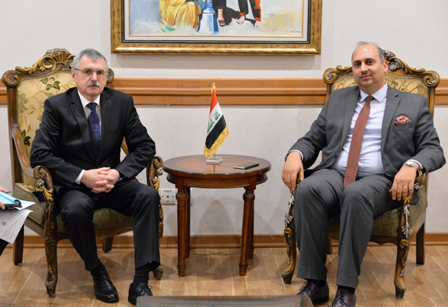 Head of the Department of International Organizations and Conferences Department meets with Deputy Head of Mission of the Russian Federation in Baghdad DSC_4782