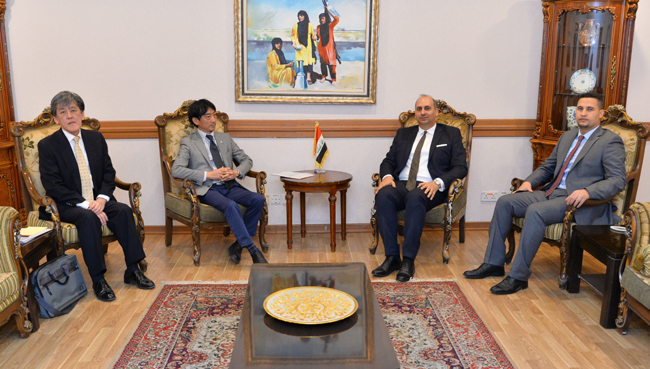 The deputy head of the International Organizations and Conferences Department meets the Deputy Chief of the Japan Mission to Baghdad DSC_5971