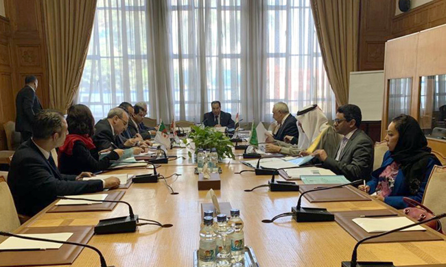 The Ambassador of the Republic of Iraq to Cairo, and its permanent representative to the League of Arab States participates in the meeting of the four teams PHOTO-2019-12-11-12-36-11
