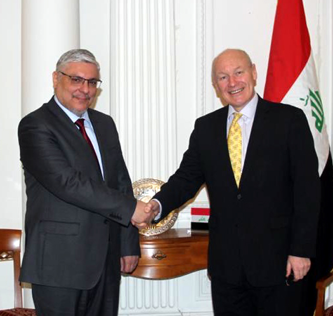 The Ambassador of the Republic of Iraq to London meets with the British Prime Minister's Advisor for International Affairs B3643132-efa5-42b3-b3cd-cb936edcb5cc-1