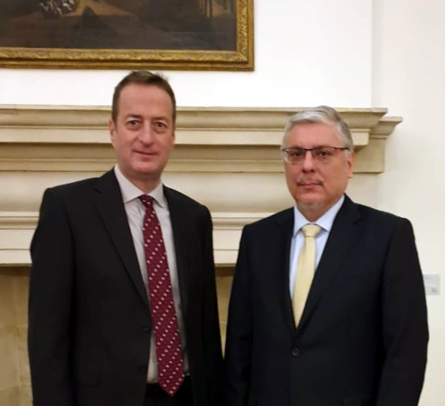 The Ambassador of the Republic of Iraq to London meets with the British Prime Minister's Advisor for International Affairs C9c813d2-a988-4dee-82a2-845e03a207a0-2