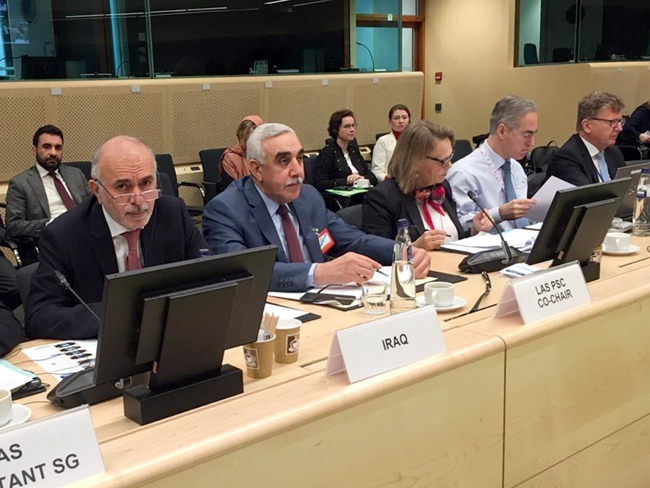Iraq participates in the eighth meeting of permanent delegates to the League of Arab States with ambassadors of the Political and Security Committee of the Council of the European Union in Brussels Photo_2020-01-24_13-25-21