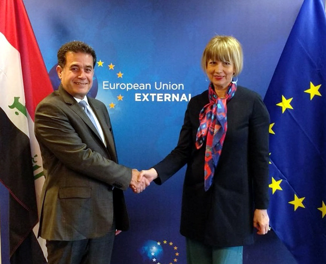 Political dialogue meetings between Iraq and the European Union in Brussels Ssss-1