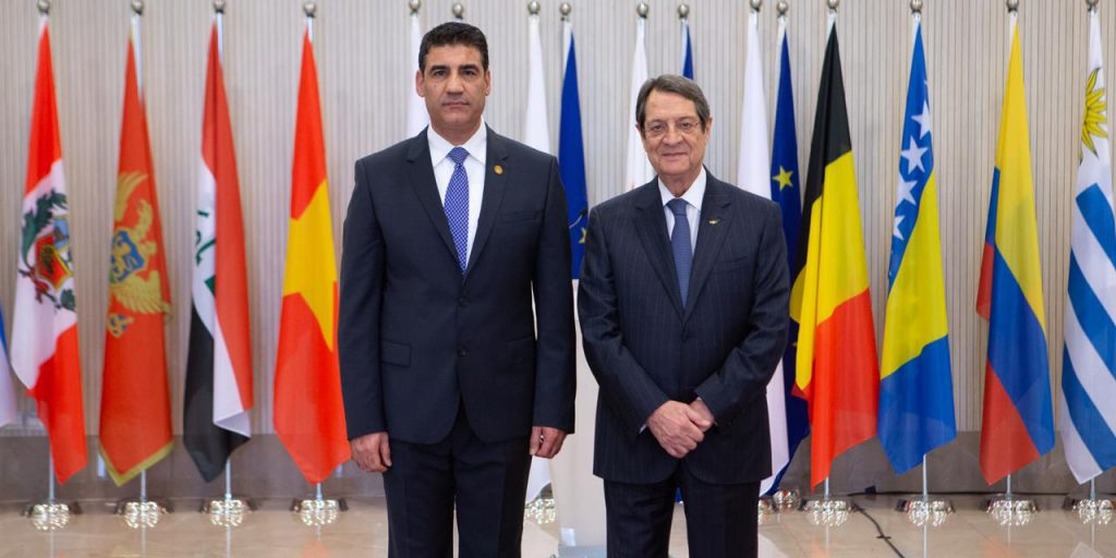 The Ambassador of the Republic of Iraq to Athens presents his credentials to the Cyprus President as a non-resident ambassador B4C48D2B-8B3B-4146-BB5C-74B75D361C66-1024x512