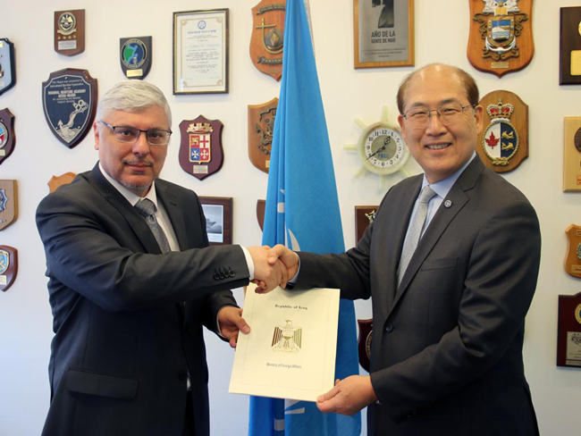 The Ambassador of the Republic of Iraq to London presents his credentials as a permanent representative to the International Maritime Organization (IMO) PHOTO-2020-02-15-13-30-36