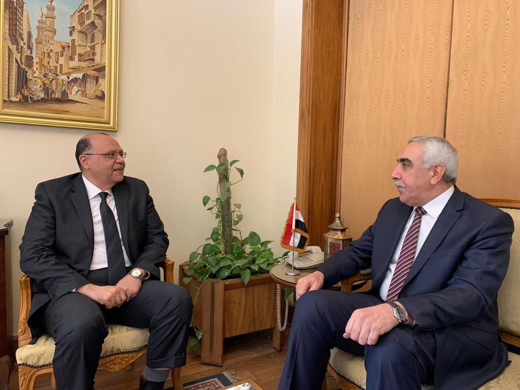 The Ambassador of the Republic of Iraq in Cairo meets the Egyptian Assistant Foreign Minister for Arab Affairs WhatsApp-Image-2020-02-04-at-2.11.30-PM