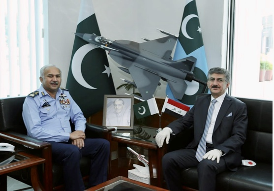 The Ambassador of the Republic of Iraq to Pakistan meets the Chief of Staff of the Pakistan Air Force 1D9C7206-58D8-4FA6-8769-DF133D640E6E
