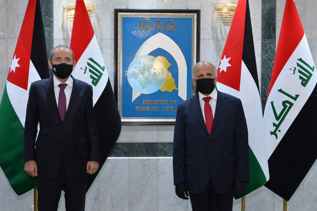 Foreign Minister Fouad Hussein meets his Jordanian counterpart in Baghdad 4-6