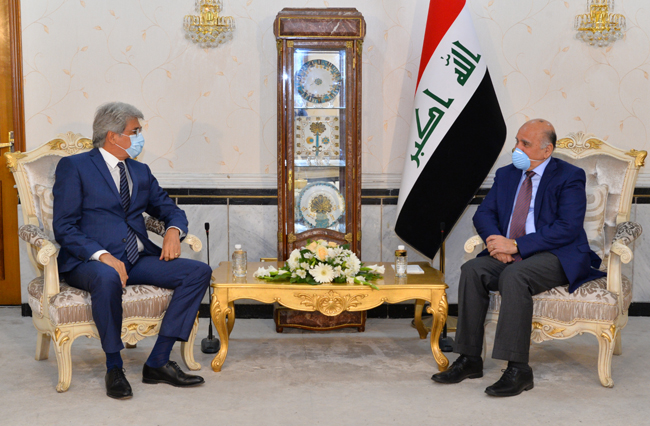 Foreign Minister Fouad Hussein: France is an important and important partner for Iraq DSC_2924