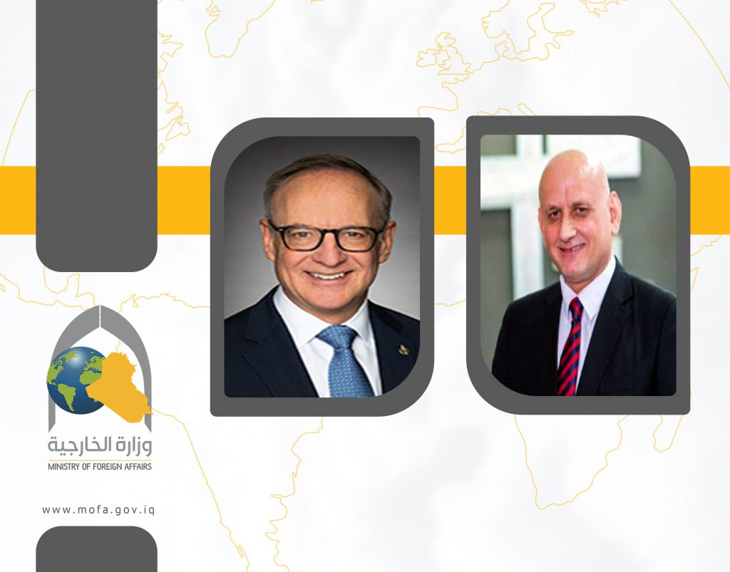 The Ambassador of the Republic of Iraq to Canada holds a virtual meeting with the Parliamentary Secretary of the Canadian Minister of Foreign Affairs %D9%82%D8%A7%D9%84%D8%A8-%D9%84%D9%82%D8%A7%D8%A1-1024x803