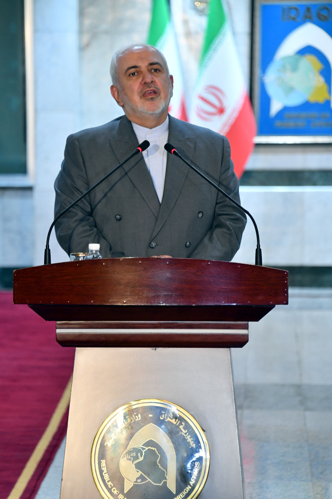 IRANIAN FOREIGN MINISTER VISITS BAGHDAD SUNDAY 1-6