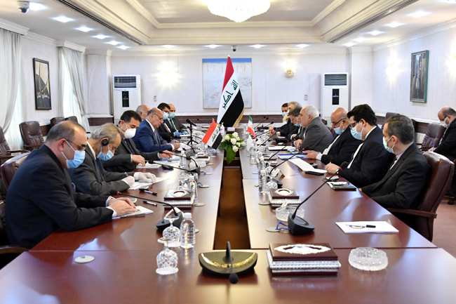 IRANIAN FOREIGN MINISTER VISITS BAGHDAD SUNDAY 13-2