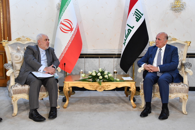 IRANIAN FOREIGN MINISTER VISITS BAGHDAD SUNDAY 15