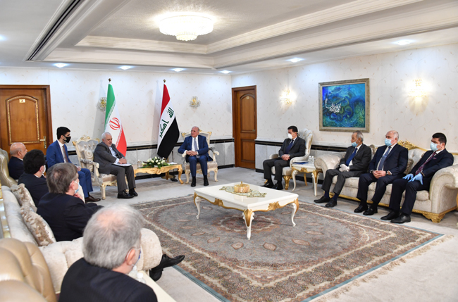 IRANIAN FOREIGN MINISTER VISITS BAGHDAD SUNDAY 16-2