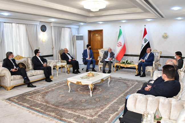 IRANIAN FOREIGN MINISTER VISITS BAGHDAD SUNDAY 17