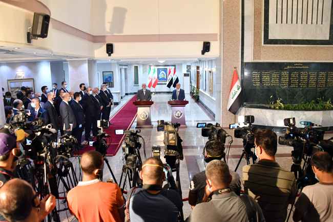 IRANIAN FOREIGN MINISTER VISITS BAGHDAD SUNDAY 21