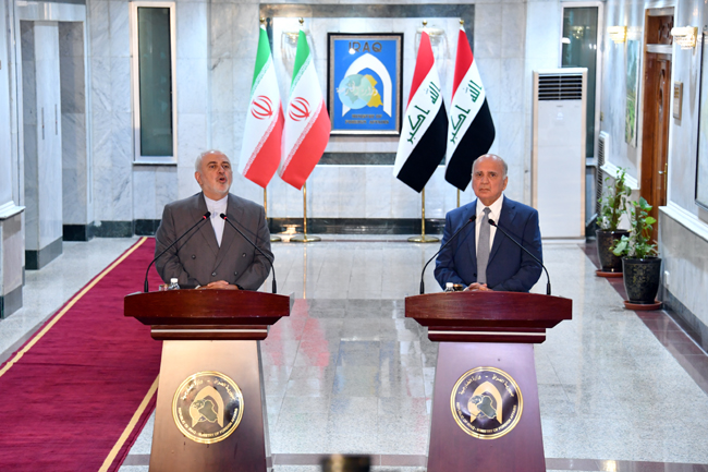 IRANIAN FOREIGN MINISTER VISITS BAGHDAD SUNDAY 22