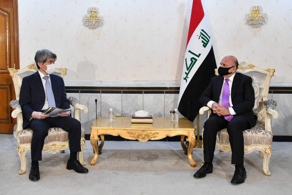 The Ambassador of the Republic of Iraq in Tokyo meets the Japanese Minister of Defense EA7CA255-11EA-4ED8-9A6D-3B229A6E2EBA-1024x682