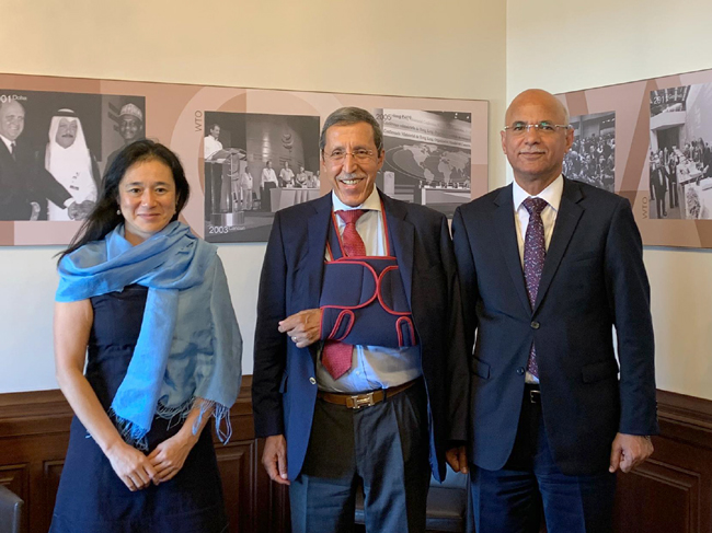 The Iraqi Chargé d'Affairs to Geneva meets with the head of the working group on Iraq's accession to the World Trade Organization / WTO WhatsApp-Image-2020-08-31-at-10.28.25-AM