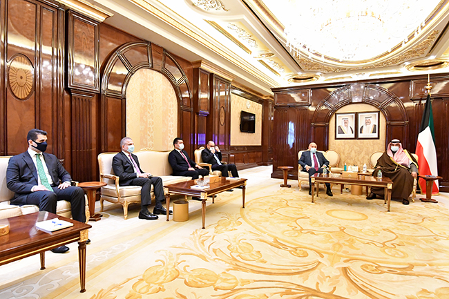 The Iraqi Foreign Minister meets with the Prime Minister of the State of Kuwait Sheikh Sabah Al-Khaled Al-Hamad Al-Sabah 2-23