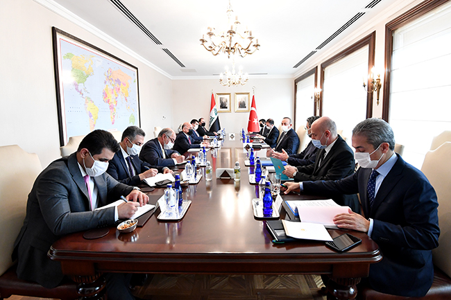 Foreign Minister: We discussed with the Turkish side the possibility of resuming the work of the 2009 Memorandum of Understanding to exempt citizens of both countries from entry visas, and Turkey affirms support for Iraq to achieve security and stability 5-22