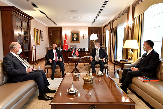 Foreign Minister: We discussed with the Turkish side the possibility of resuming the work of the 2009 Memorandum of Understanding to exempt citizens of both countries from entry visas, and Turkey affirms support for Iraq to achieve security and stability 7-5