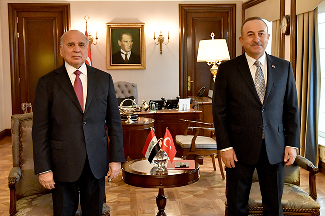 Foreign Minister: We discussed with the Turkish side the possibility of resuming the work of the 2009 Memorandum of Understanding to exempt citizens of both countries from entry visas, and Turkey affirms support for Iraq to achieve security and stability 8