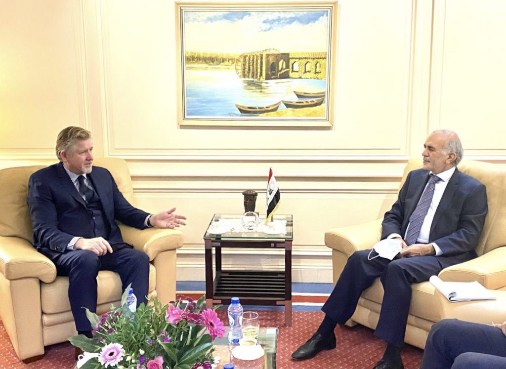 The Ambassador of the Republic of Iraq in Brussels receives the Assistant Secretary-General of NATO for Operations Affairs AD2ED076-5472-4FB3-986F-818FEAF8E013-1024x747