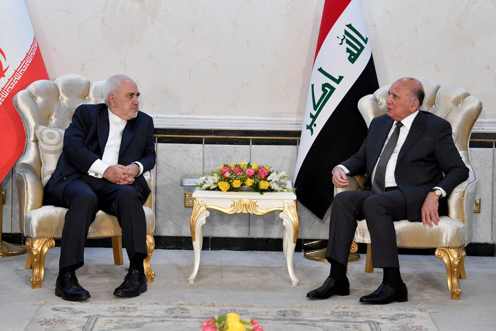 During his meeting with the Iranian Foreign Minister .. Fuad Hussein: The Iraqi government plays a pivotal role in resolving the crises afflicting the region, and an active element in achieving calm and stabilization DSC_6418-1024x683